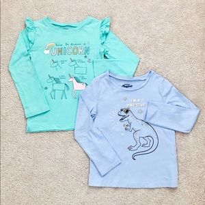 ❤️2 FOR 20❤️ 2 Carters long sleeve tees